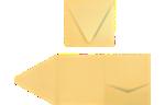 6 x 6 Pocket Invitations Gold Metallic