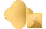 6 1/4 x 6 1/4 Petal Invitations Gold Metallic