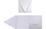 6 x 6 Pocket Invitations Silver Metallic