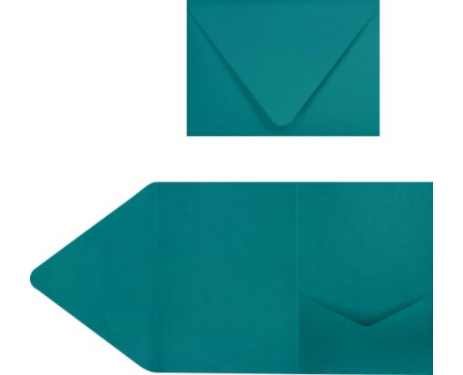 A7 Pocket Invitations (5 x 7) Teal