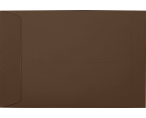 6 x 9 Open End Envelopes Chocolate
