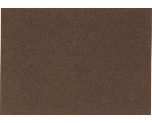 A6 Flat Card (4 5/8 x 6 1/4) Chocolate