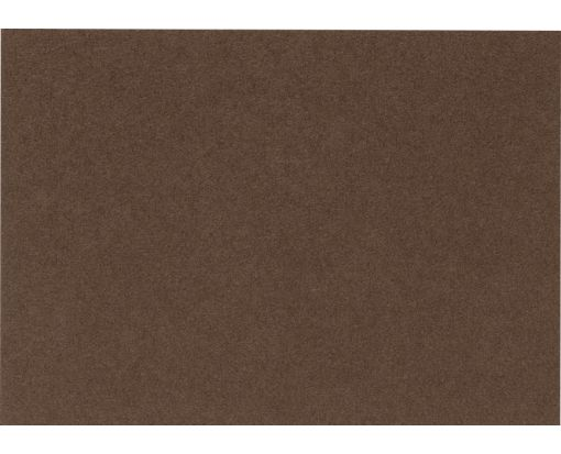 A9 Flat Card (5 1/2 x 8 1/2) Chocolate