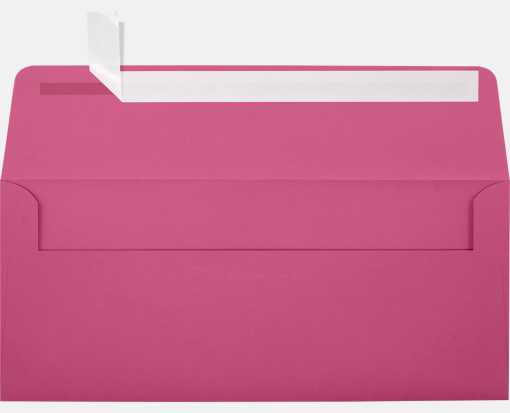 #10 Square Flap Envelopes (4 1/8 x 9 1/2) Magenta