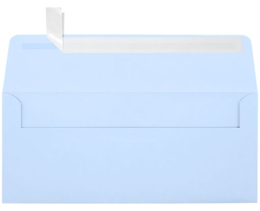 #10 Square Flap Envelopes (4 1/8 x 9 1/2) Baby Blue