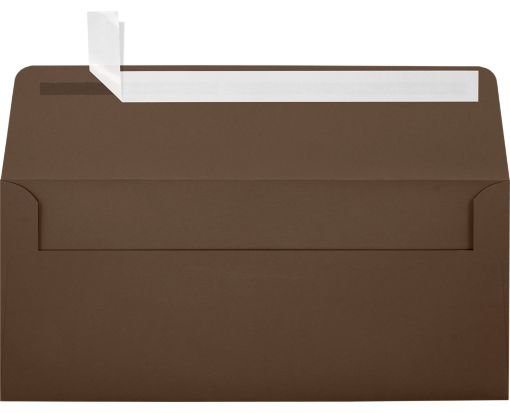 #10 Square Flap Envelopes (4 1/8 x 9 1/2) Chocolate