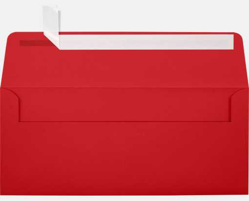 #10 Square Flap Envelopes (4 1/8 x 9 1/2) Ruby Red
