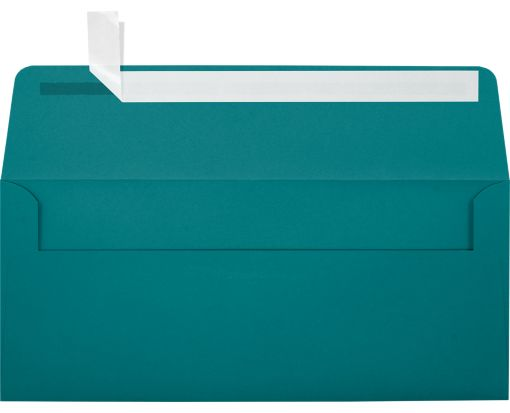 #10 Square Flap Envelopes (4 1/8 x 9 1/2) Teal