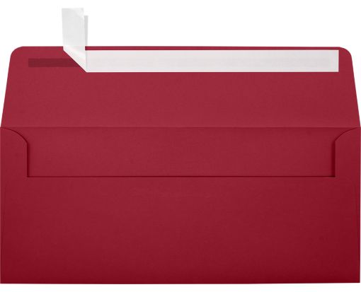 #10 Square Flap Envelopes (4 1/8 x 9 1/2) Garnet