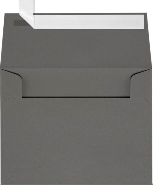 Smoke Gray A2 Envelopes Square Flap 4 3 8 X 5 3 4