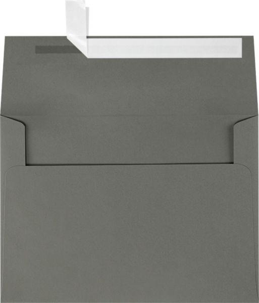 Smoke Gray A7 Envelopes Square Flap 5 1 4 X 7 1 4 Envelopes Com