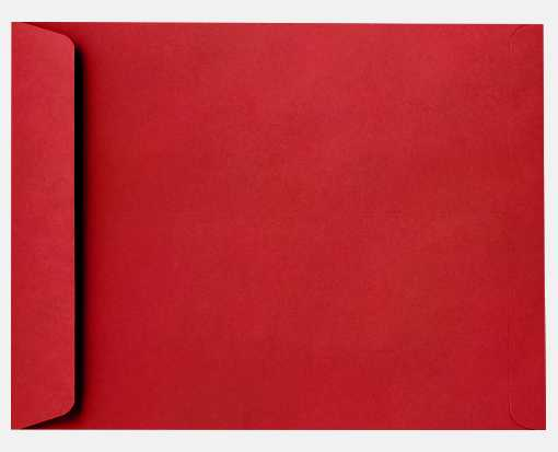 9 x 12 Open End Envelopes Ruby Red