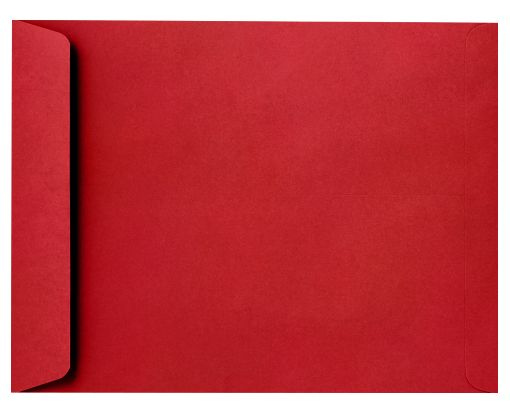 10 x 13 Open End Envelopes Ruby Red