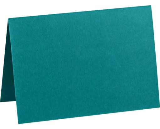 A1 Folded Card (3 1/2 x 4 7/8) Teal
