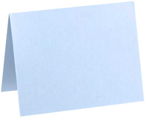 A2 Folded Card (4 1/4 x 5 1/2) Baby Blue
