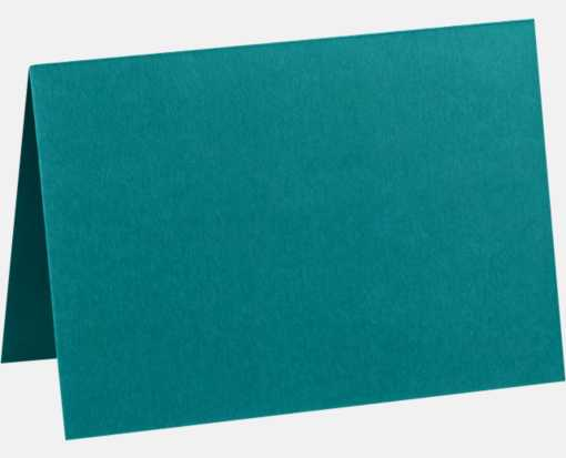 A2 Folded Card (4 1/4 x 5 1/2) Teal