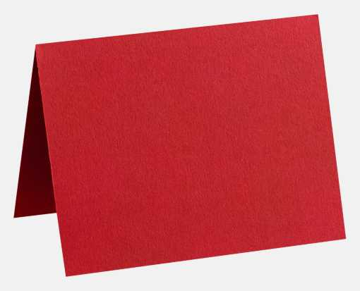 A6 Folded Card (4 5/8 x 6 1/4) Ruby Red