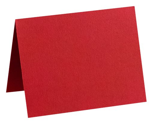 A7 Folded Card (5 1/8 x 7 ) Ruby Red