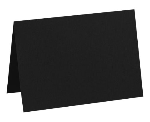 A7 Folded Card (5 1/8 x 7) Midnight Black