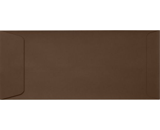 #10 Open End Envelopes (4 1/8 x 9 1/2) Chocolate
