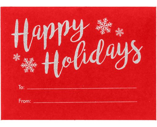 #17 Mini Envelopes (2 11/16 x 3 11/16) Happy Holidays on Ruby Red