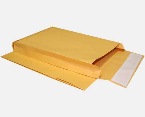 4 1/8 x 9 1/2 x 2 Expansion Envelopes 40lb. Brown Kraft