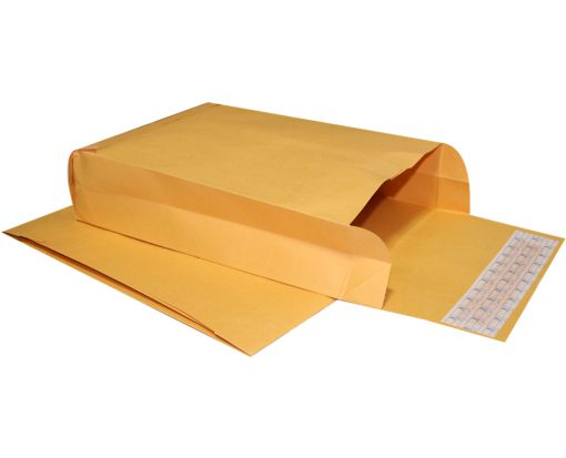 9 x 12 x 3 Expansion Envelopes 40lb. Brown Kraft
