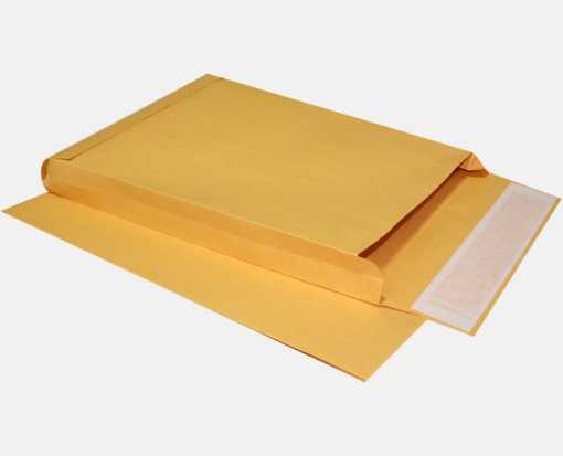 10 x 13 x 1 1/2 Expansion Envelopes 40lb. Brown Kraft