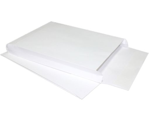 9 x 12 x 2 Expansion Envelopes 40lb. White Kraft