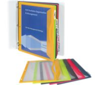 Binder Pockets with Write-On Index Tabs - Set of 5