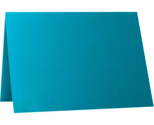 A1 Folded Card (3 1/2 x 4 7/8) Trendy Teal