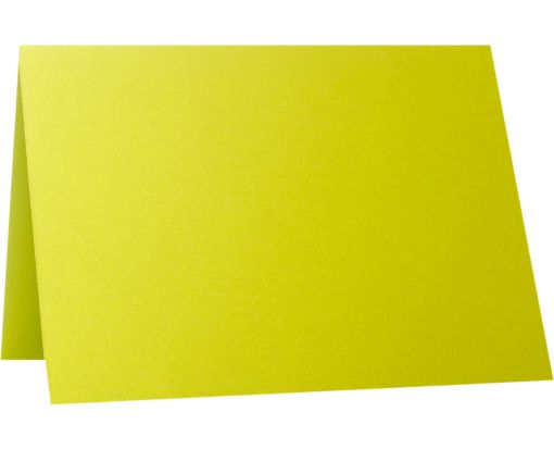 A2 Folded Card (4 1/4 x 5 1/2) Glowing Green