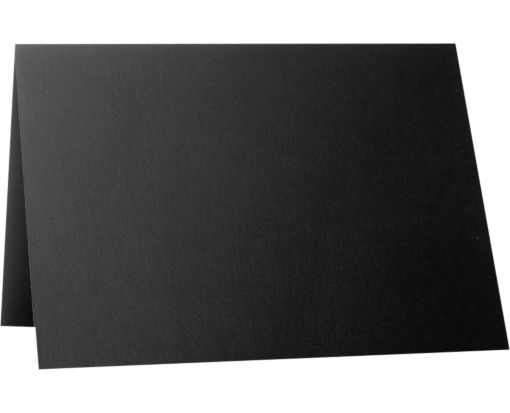 A6 Folded Card (4 5/8 x 6 1/4) Black Satin