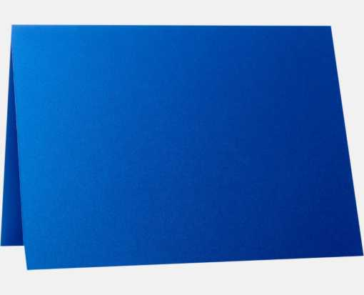 A6 Folded Card (4 5/8 x 6 1/4) Boutique Blue