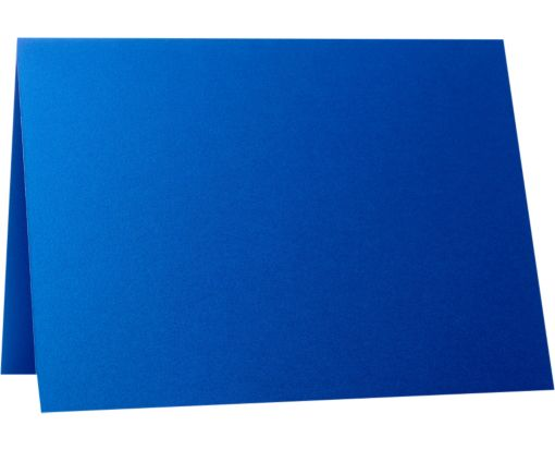 A7 Folded Card (5 1/8 x 7 ) Boutique Blue