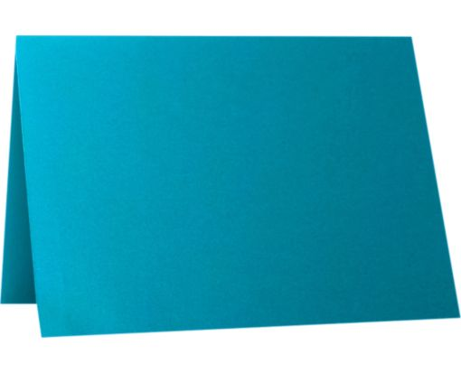 A7 Folded Card (5 1/8 x 7 ) Trendy Teal
