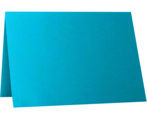 A9 Folded Card (5 1/2 x 8 1/2) Trendy Teal
