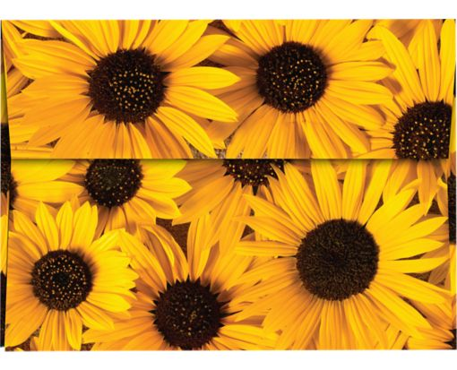 A7 Invitation Envelopes (5 1/4 x 7 1/4) Sunflower Print