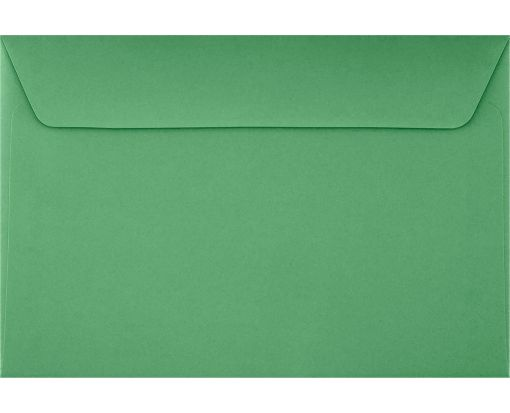 6 x 9 Booklet Envelopes Holiday Green
