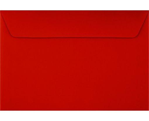 6 x 9 Booklet Envelopes Holiday Red
