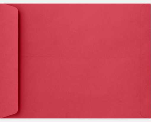 10 x 13 Open End Envelopes Holiday Red
