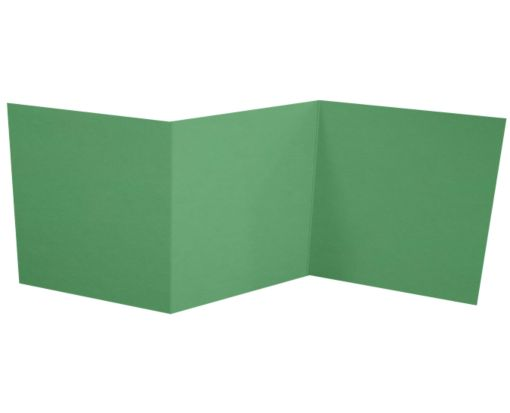 6 1/4 x 6 1/4 Z-Fold Invitation Holiday Green