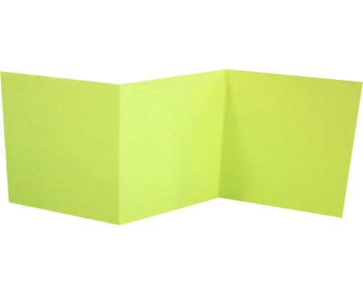 6 1/4 x 6 1/4 Z-Fold Invitation Wasabi