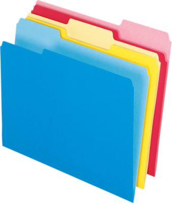 Write And Erase File Folders Assorted
