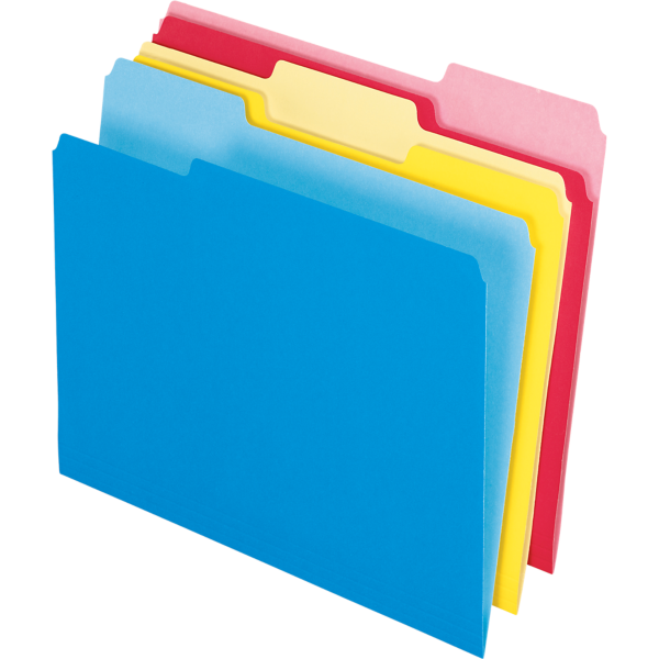 Write And Erase File Folders Assorted