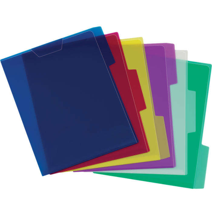Poly View File Folders Assorted - Translucent