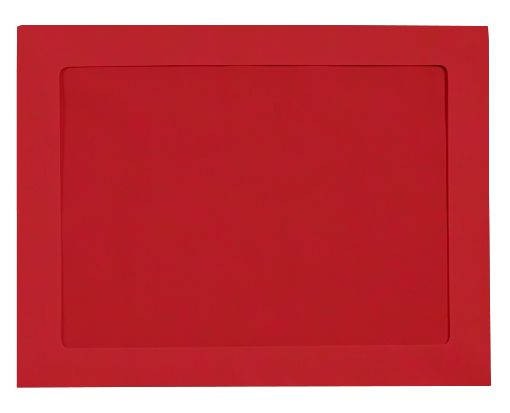 10 x 13 Full Face Window Envelopes Ruby Red