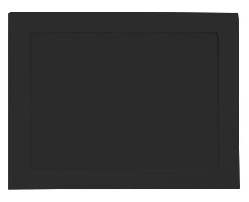 10 x 13 Full Face Window Envelopes Midnight Black