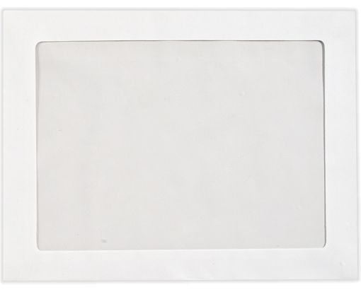 10 x 13 Full Face Window Envelopes 28lb. Bright White