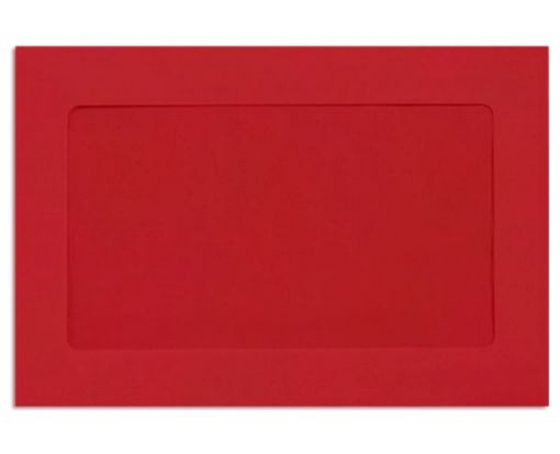 6 x 9 Full Face Window Envelopes Ruby Red